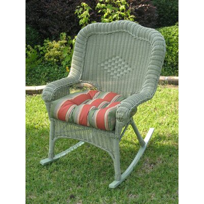 International Caravan Monaco Outdoor Wicker Rocking Chair