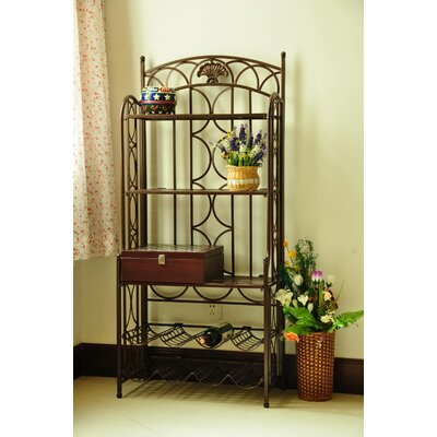 Venice Iron Five Tier Baker's Wine Rack