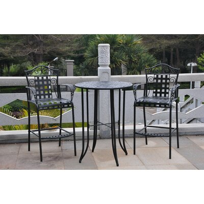 International Caravan 3 Piece Iron Scroll Pub Set