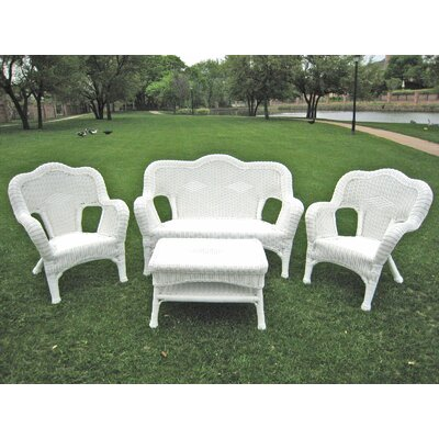 International Caravan Monaco 4 Piece Lounge Seating Group