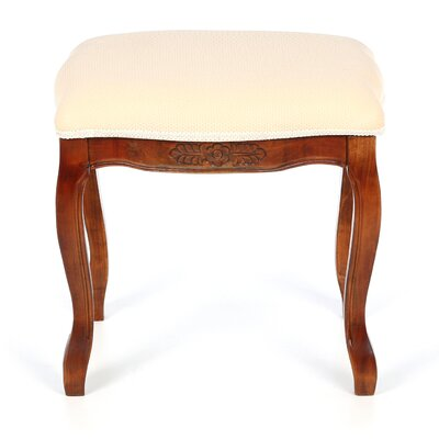 International Caravan Vanity Stool with Cushioned Top