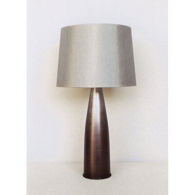 Babette Holland Val Table Lamp in Smoke with Platinum Silk Shade