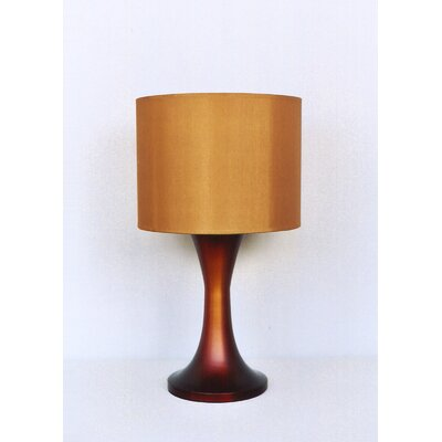 Babette Holland Twister Table Lamp in Rust Fade with Gold Shade