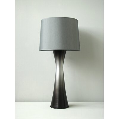 Babette Holland Skyscraper Table Lamp in Smoke with Platinum Shade