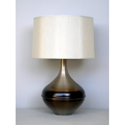 Babette Holland Kiss Table Lamp in Mocha Horizon with Pebble Shade