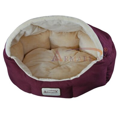 Armarkat Cat Bed in Burgundy and Beige