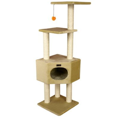 "Armarkat 52"" Classic Cat Tree in Beige"