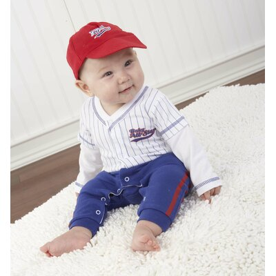 "Baby Aspen ""Big Dreamzzz"" Baby Baseball 3 Piece Layette Set"
