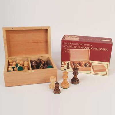 Classic Game Collection Medium Staunton Wood Chessmen