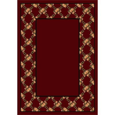 Milliken Design Center Rose Bower Cranberry Rug