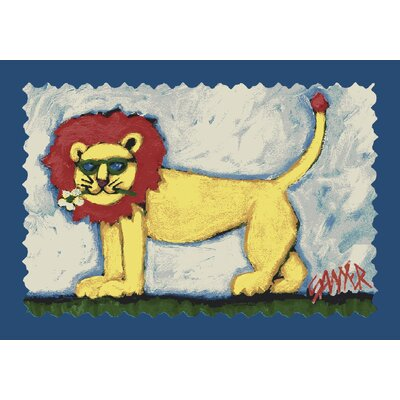 Milliken Don Sawyer Smilin Lion Kids Rug