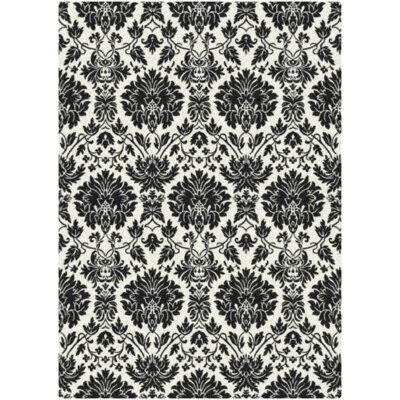 Black & White Manor Uptown Black Rug