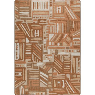 Mix and Mingle Terra Cotta Urban Order Rug