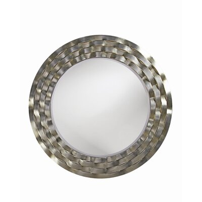 Howard Elliott Cartier Wall Mirror in Bright Silver Leaf