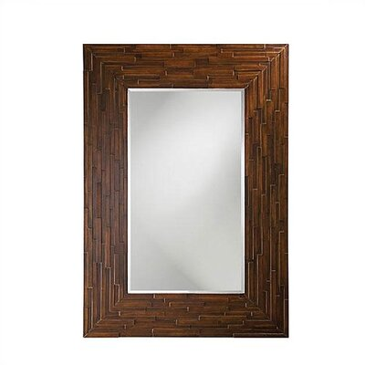 Howard Elliott Amherst Wall Mirror in Faux Walnut