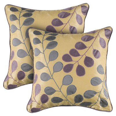Rizzy Home Cream and Purple Decorative Pillow