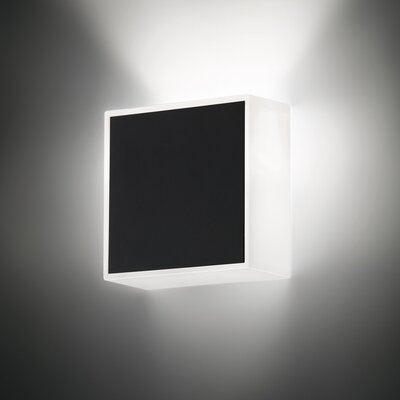 Vibia Beta Square Wall Sconce in Soft Black Lacquer