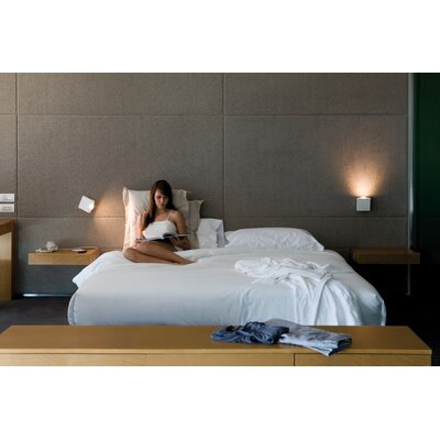 Vibia Alpha Wall Sconce in Satin Nickel and White Lacquer
