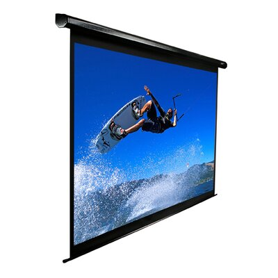 "Elite Screens MaxWhite VMAX2 Series ezElectric / Motorized Screen - 136"" Diagonal in Black Case"