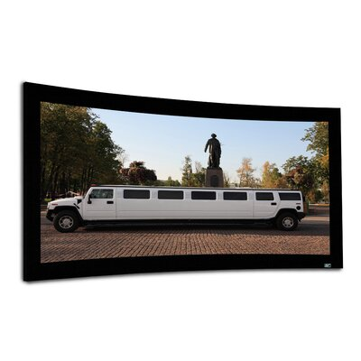 "Elite Screens Lunette Fixed Frame Curve CineWhite 125"" 2.35:1 AR Projection Screen"