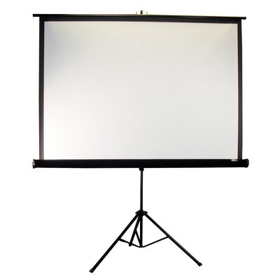 "Elite Screens Tripod Pro Portable MaxWhite 85"" Projection Screen in Black Case"