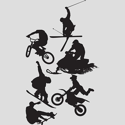 Fathead Assorted Action Sports Silhouettes Wall Graphic