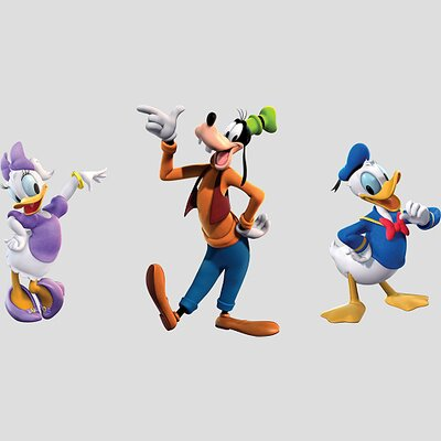 Fathead Donald, Daisy and Goofy Wall Graphic