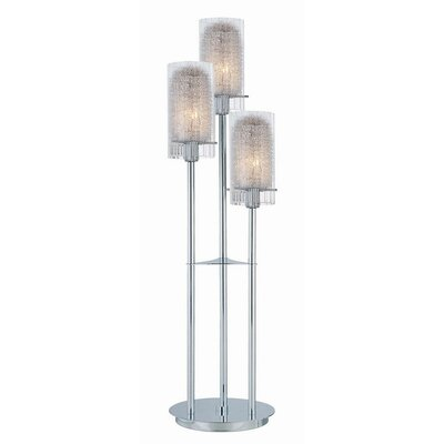 Lite Source 34.5&quot; x 9&quot;  Table Lamp in Chrome