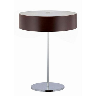 Lite Source Table Lamp in Chrome/Dark Walnut