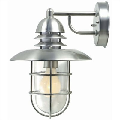 Lite Source Outdoor  Wall Lantern in Stainless Steel