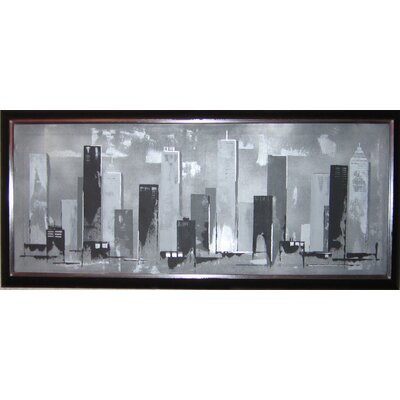 "Graham & Brown Hand Painted Skyline Canvas Art - 16"" X 40"""