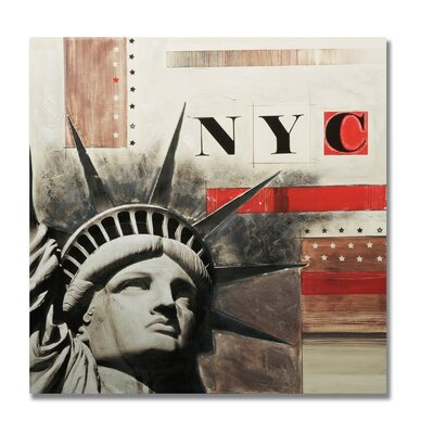 "Graham & Brown Handpainted Nyc Printed Canvas Art - 28"" X 28"""