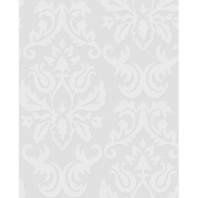 Graham &amp; Brown Paintable Damask Wallpaper in White