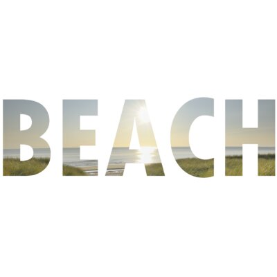 Graham & Brown Beach Letters Wall Art