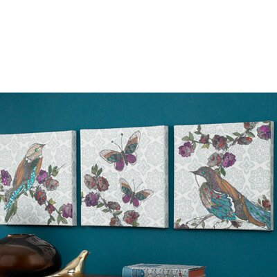 Graham & Brown Bird Canvas Wall Art (Set of 3)