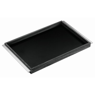 Carl Mertens Carl Mertens Walnut and Black Linoleum Minamoto Serving Tray