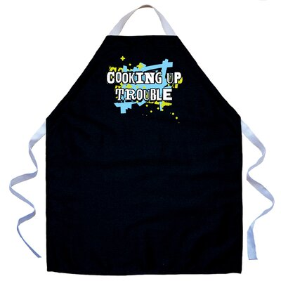 Cooking Up Trouble Apron in Black