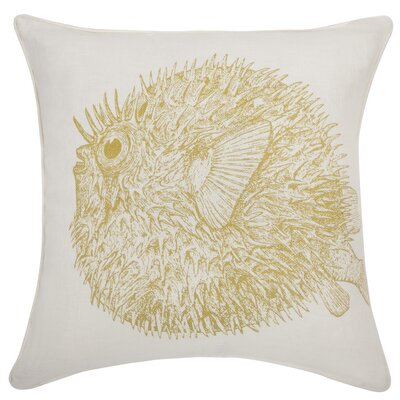 Thomas Paul Sea Life Puffer fish Pillow in Corn
