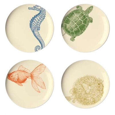 Thomas Paul Sea Life Dessert Plate (Set of 4)