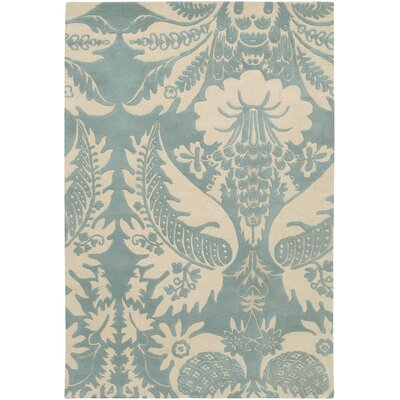 Thomas Paul Tufted Pile Powder/Cream Damask Rug