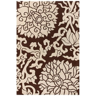 Thomas Paul Tufted Pile Chocolate/Cream Blossom Rug
