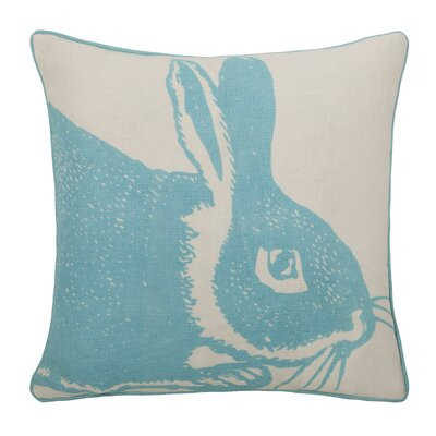 Thomas Paul Bunny Linen Pillow in Aqua