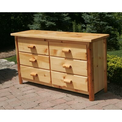 Moon Valley Rustic 6 Drawer Dresser