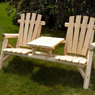 Moon Valley Rustic White Cedar Tete-a-Tete Seating Group