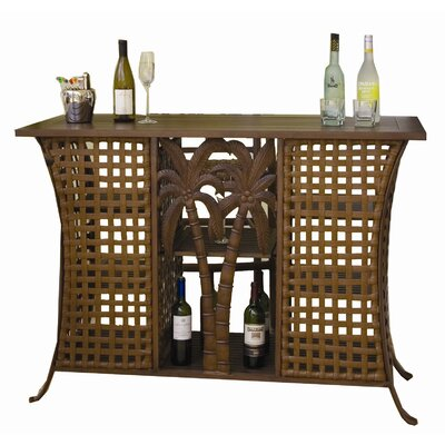 Hospitality Rattan Coco Palm Patio Home Bar