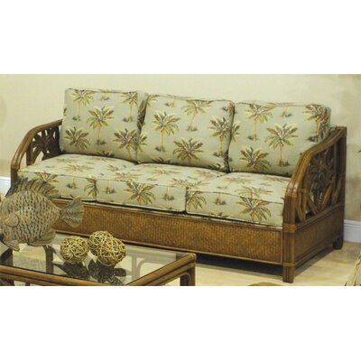 Hospitality Rattan Cancun Palm Rattan Sleeper Sofa