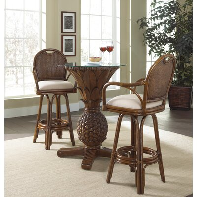 Hospitality Rattan Sunset Reef Pub and Classic Swivel Barstool Group