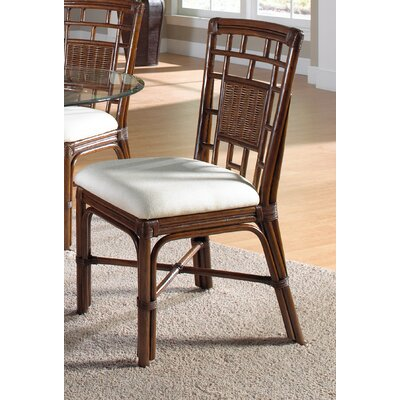 Hospitality Rattan Padre Island Dining Side Chair with Cushion