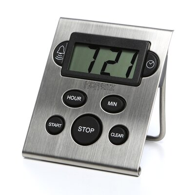 Hoffritz Digital and Clock Timer in Stainless Steel