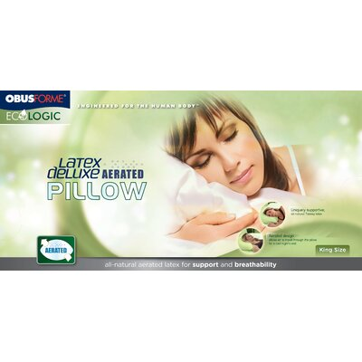 Obusforme Latex Deluxe Aerated Pillow